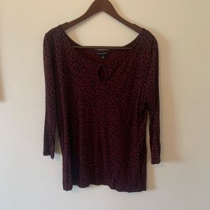 Banana Republic spotted red and black top size XL